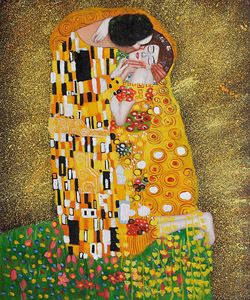 Gustav Klimt's the Kiss Oil Painting