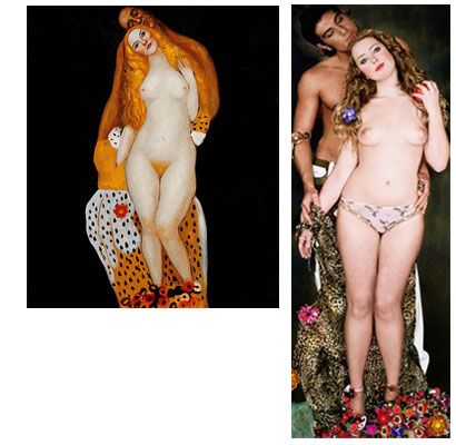 Adam and Eve - Gustav Klimt oil painting
