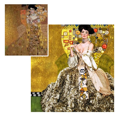 Portrait of Adele Bloch-Bauer I - Gustav Klimt oil painting