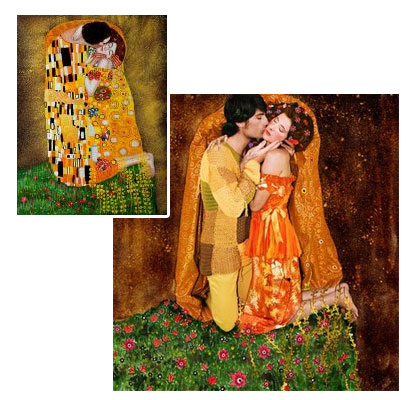 The Kiss (Fullview) -  Gusrav Klimt oil painting