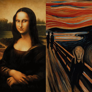 Iconic Expressions: Mona Lisa and The Scream