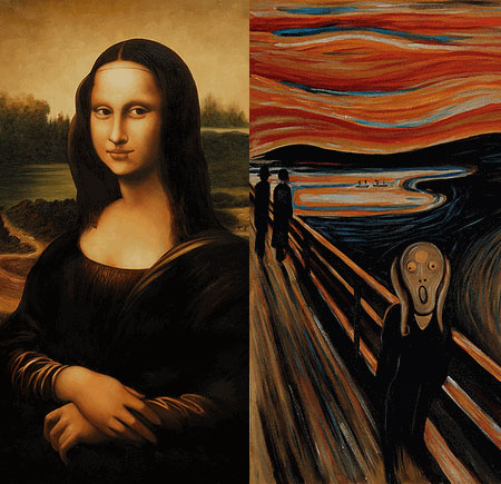 Mona Lisa still smiling... Scream still screaming...
