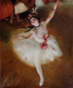 Degas - Star Dancer (On Stage) oil painting