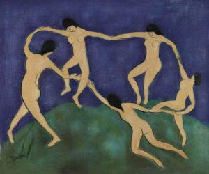 Famous Henri Matisse painting, La Danse
