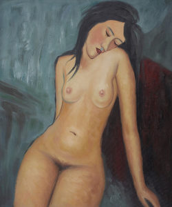 Female Nude - Amedeo Modigliani oil painting