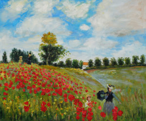 Monet - Poppy Field in Argenteuil Oil Painting