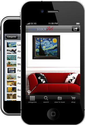 overstockArt.com's Decorators Dream iPhone App