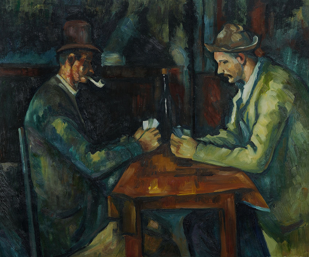 Paul Cezanne - Card Players with Pipes
