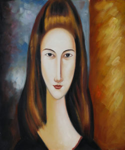 Modigliani - Portrait of Jeanne Hebuterne - The love of his life.