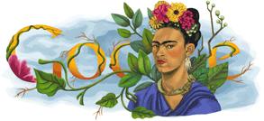 Frida's Doodle on Google.com