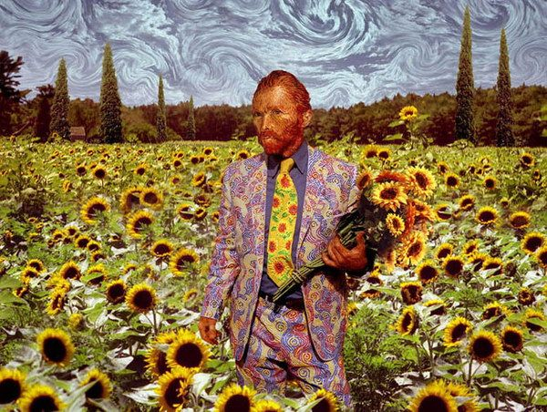 vang gogh sunflowers