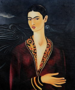 Frida - Self Portrait in a Velvet Dress