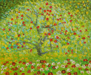 apple 300x250 Spring Blossoms in Art: The Symbol of Life
