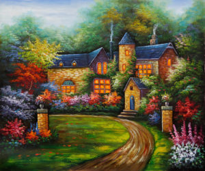 kinkade1 300x250 THOMAS KINKADE AND CLAUDE MONET:  IMPRESSIONS IN THE LIGHT