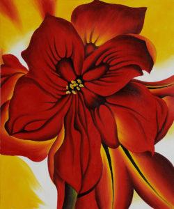 O'Keeffe - Red Amaryllis