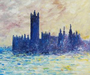 Monet - London. Houses of Parliament (Sun Breaking Through the Fog)