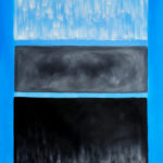 Rothko - White and Black in Blue