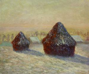 Monet - Wheat, Snow, Morning Haystacks