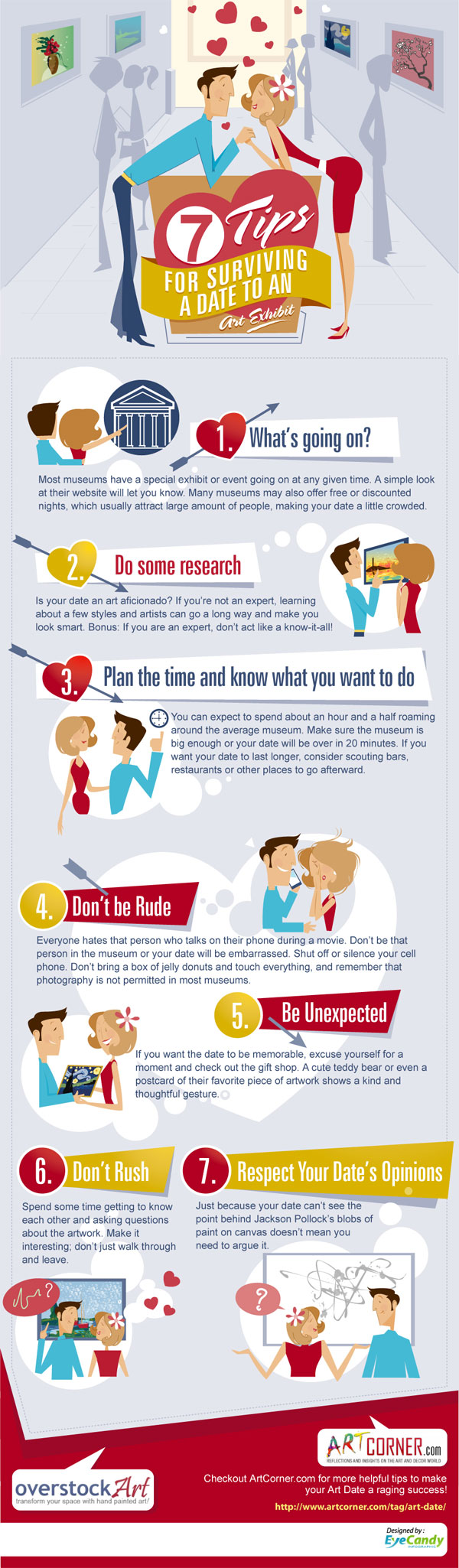 7 Tips Surviving a Date to the Art Museum Infograph