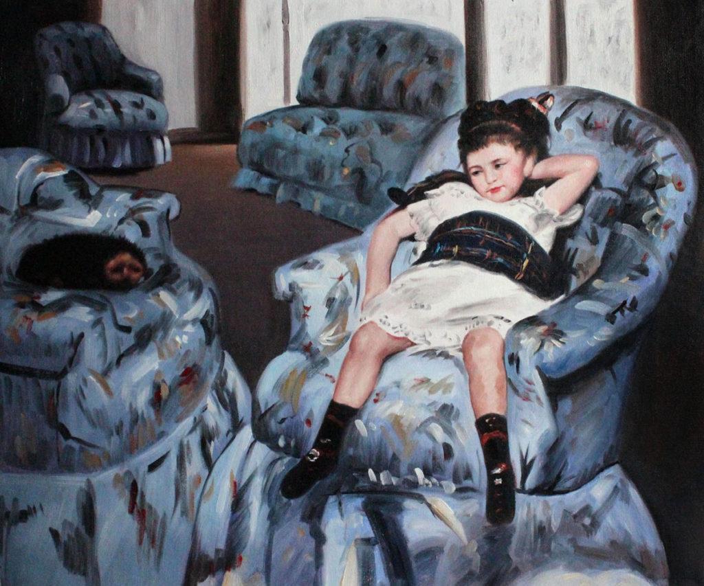 Cassatt - Little Girl in a Blue Armchair