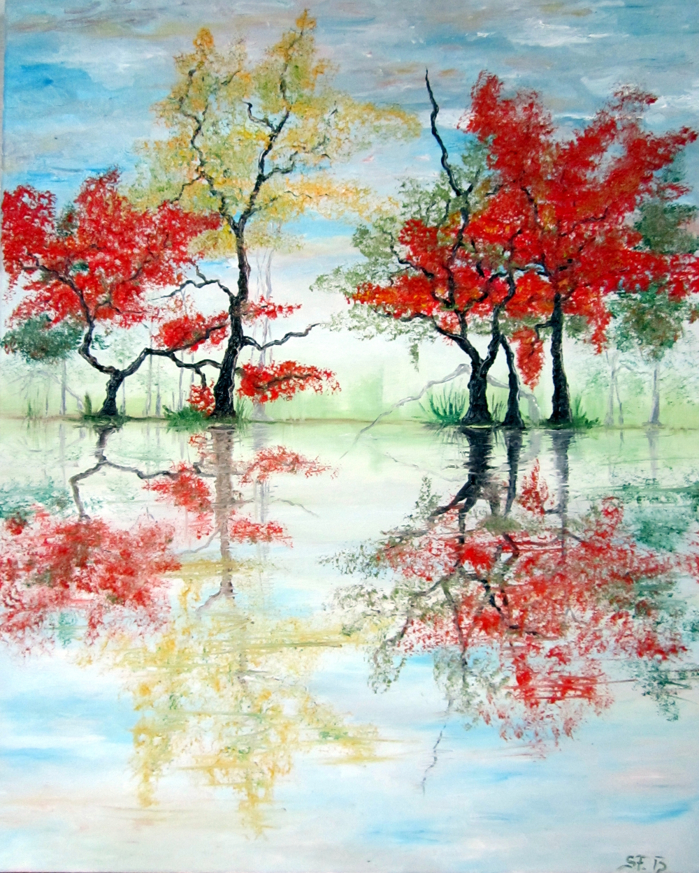 COLORED TREES by Susan Fischer