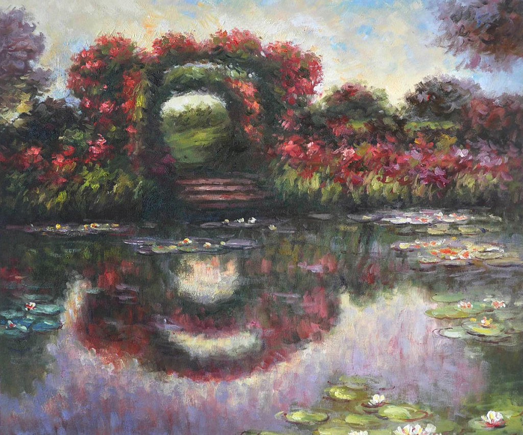 Monet - Flowering Arches, Giverny, 1913