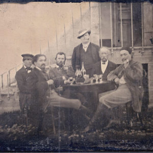 Is This a Photo of Van Gogh Drinking with Gauguin and Bernard?