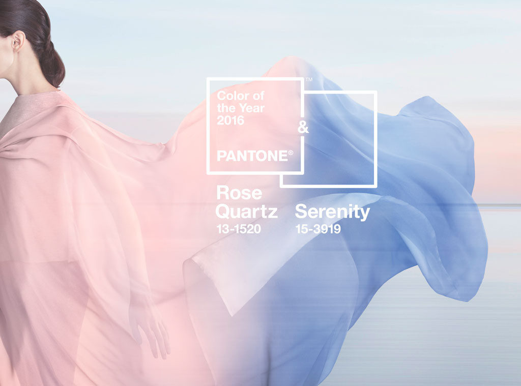 Rose Quartz and Serenity get top honors as dual-color winners of 2015 Pantone colors of the year.