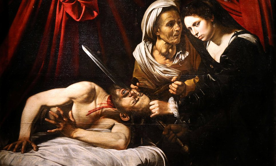Judith Beheading Holofernes - Caravaggio (tentative)