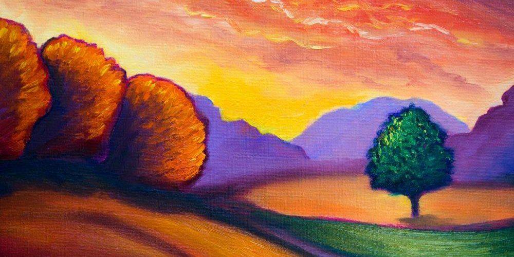 Artwork Cool Color Landscape