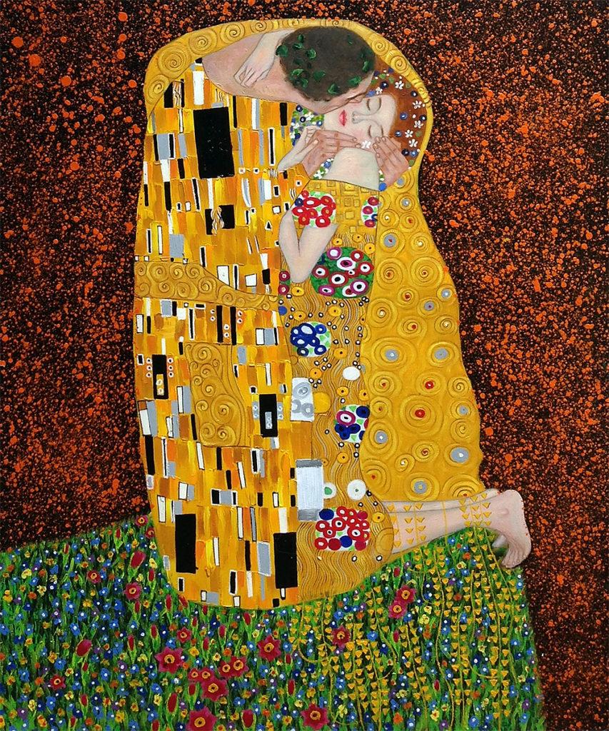 Gustav Klimt - The Kiss (Full view)