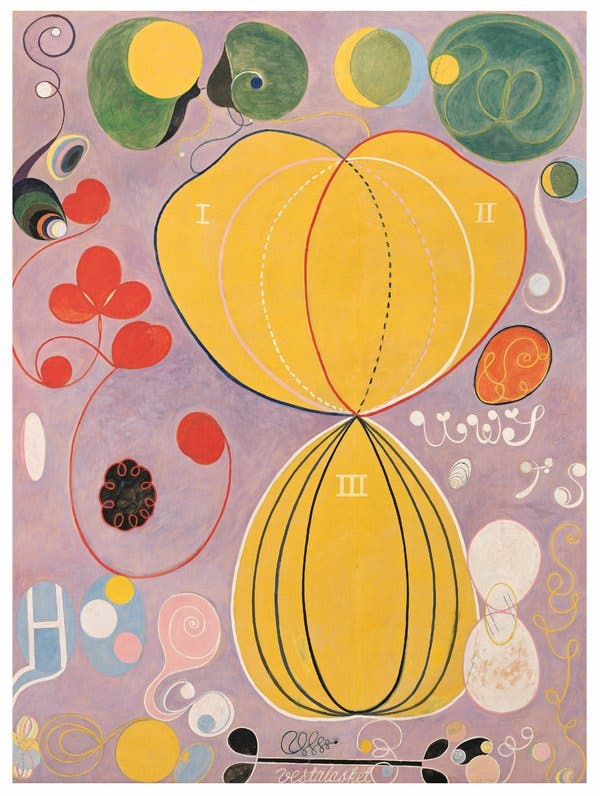Hilma af Klint - Group IV, The Ten Largest, No. 7, Adulthood -True Abstract Pioneer