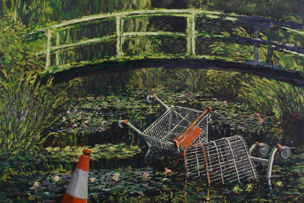 Banksy - Show me the Monet - Find Reimagined Classics hand painted at overstockArt.com