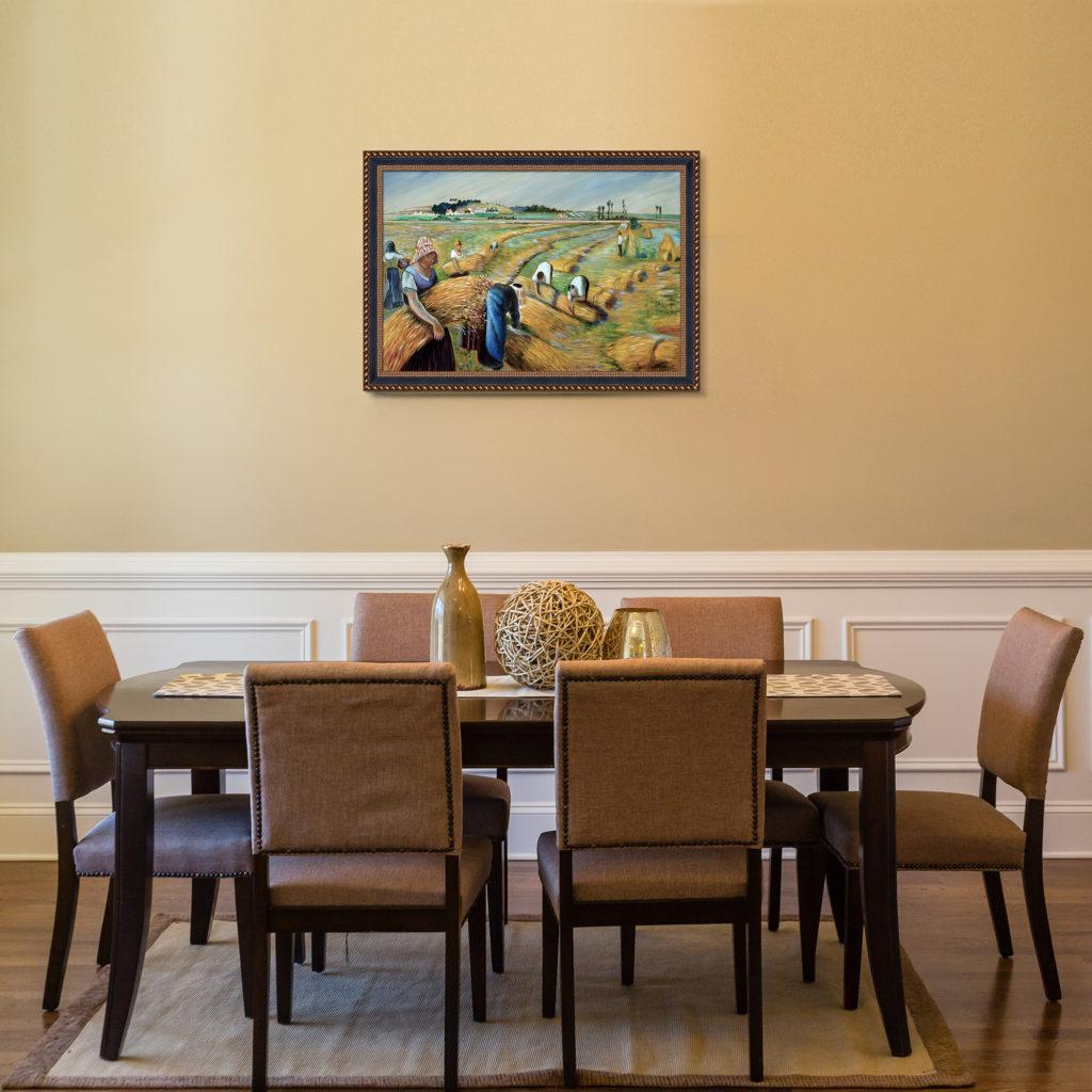 Camille Pissarro - The Harvest - Rustic Décor Art Pieces
