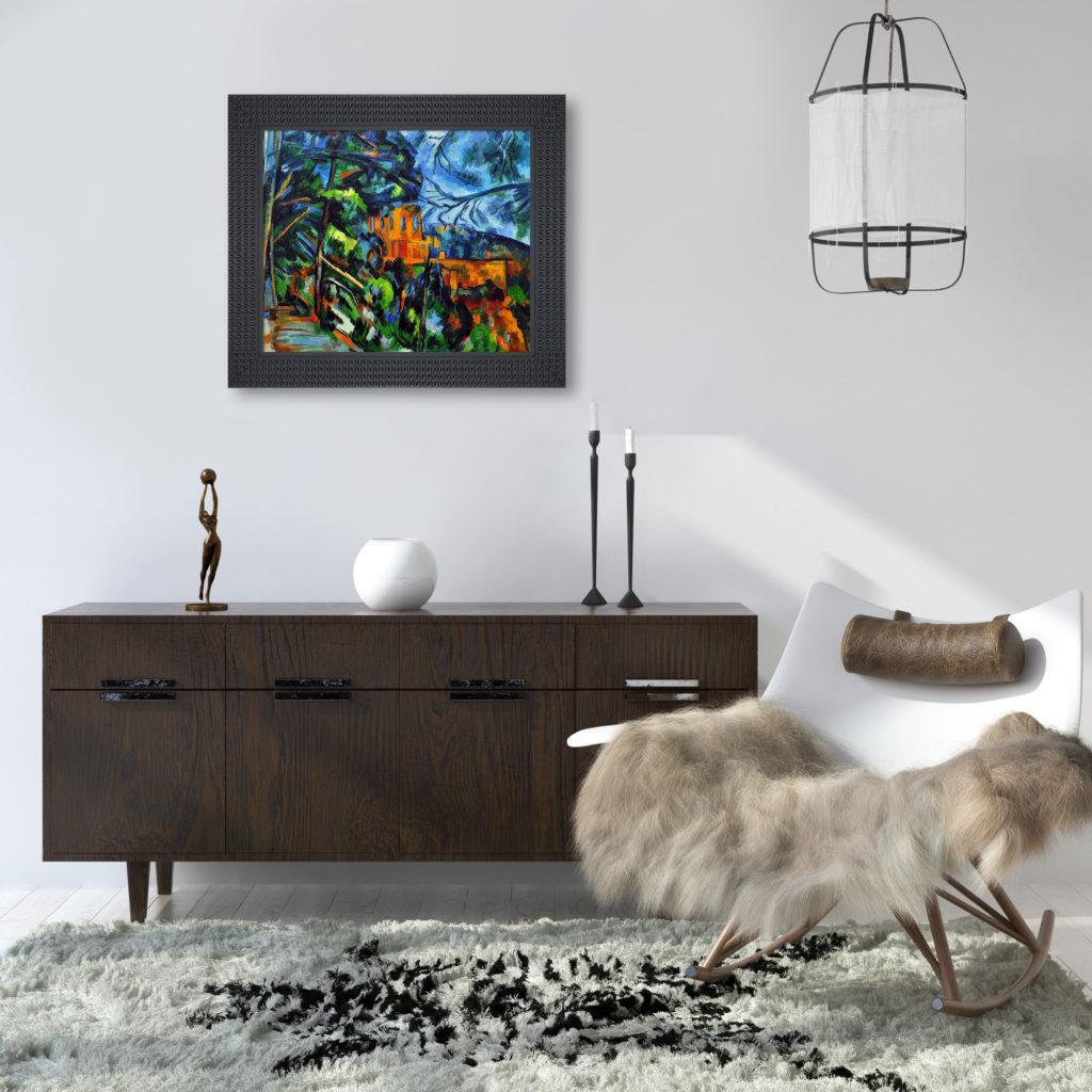 Paul Cezanne - Chateau - Rustic Décor Art Pieces