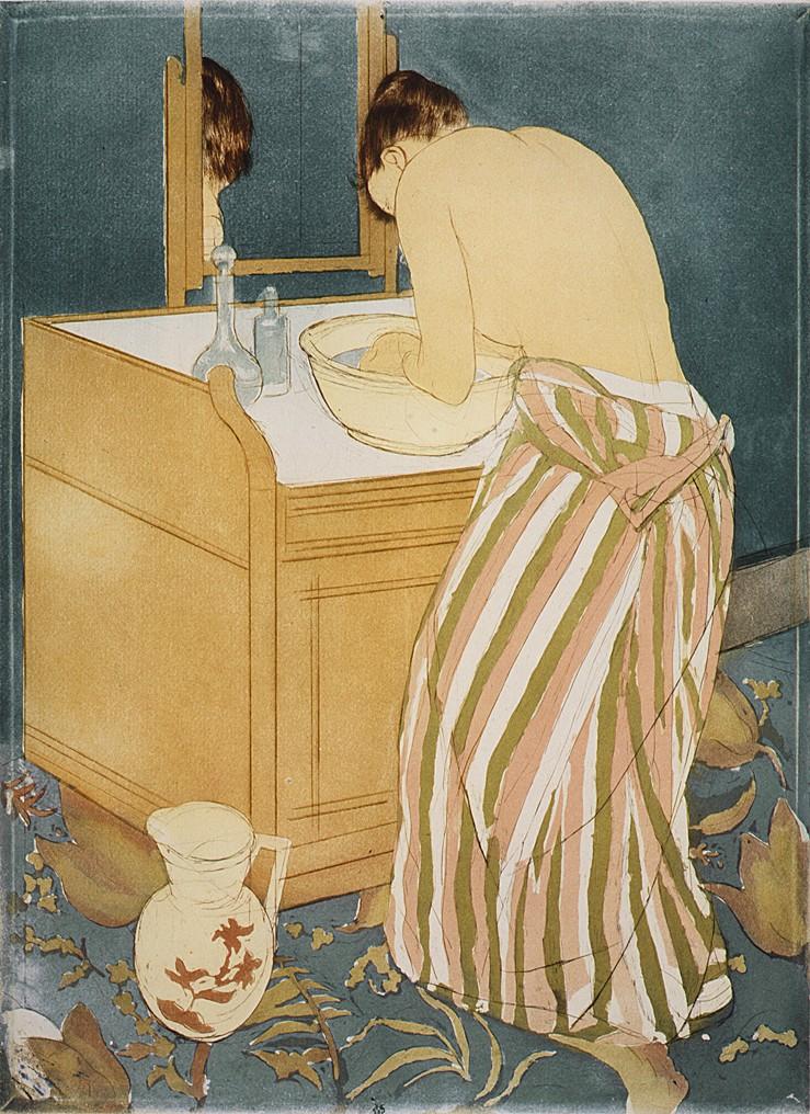 Woman Bathing (La Toilette) - The Met - Mary Cassatt