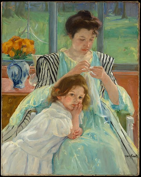 Young Mother Sewing - The Met - 1900