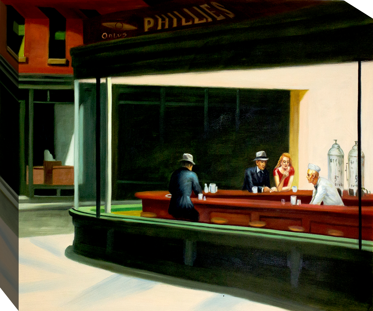edward hopper's nighthawks Hopper, edward nighthawks 1942 oil on canvas there was a period when every college dormitory in the country had on its walls a poster of hopper's nighthawks.